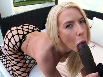 Anikka Albrite with big white ass anal fucked by black dick