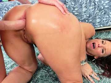 Syren De Mer gets her tight MILF asshole banged doggy style by Mark Wood